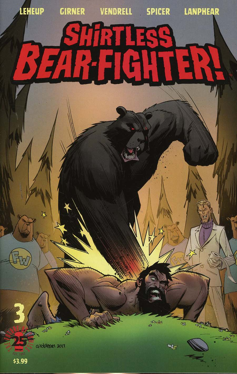 Shirtless Bear-Fighter #3 Cover A Regular Andrew Robinson Cover