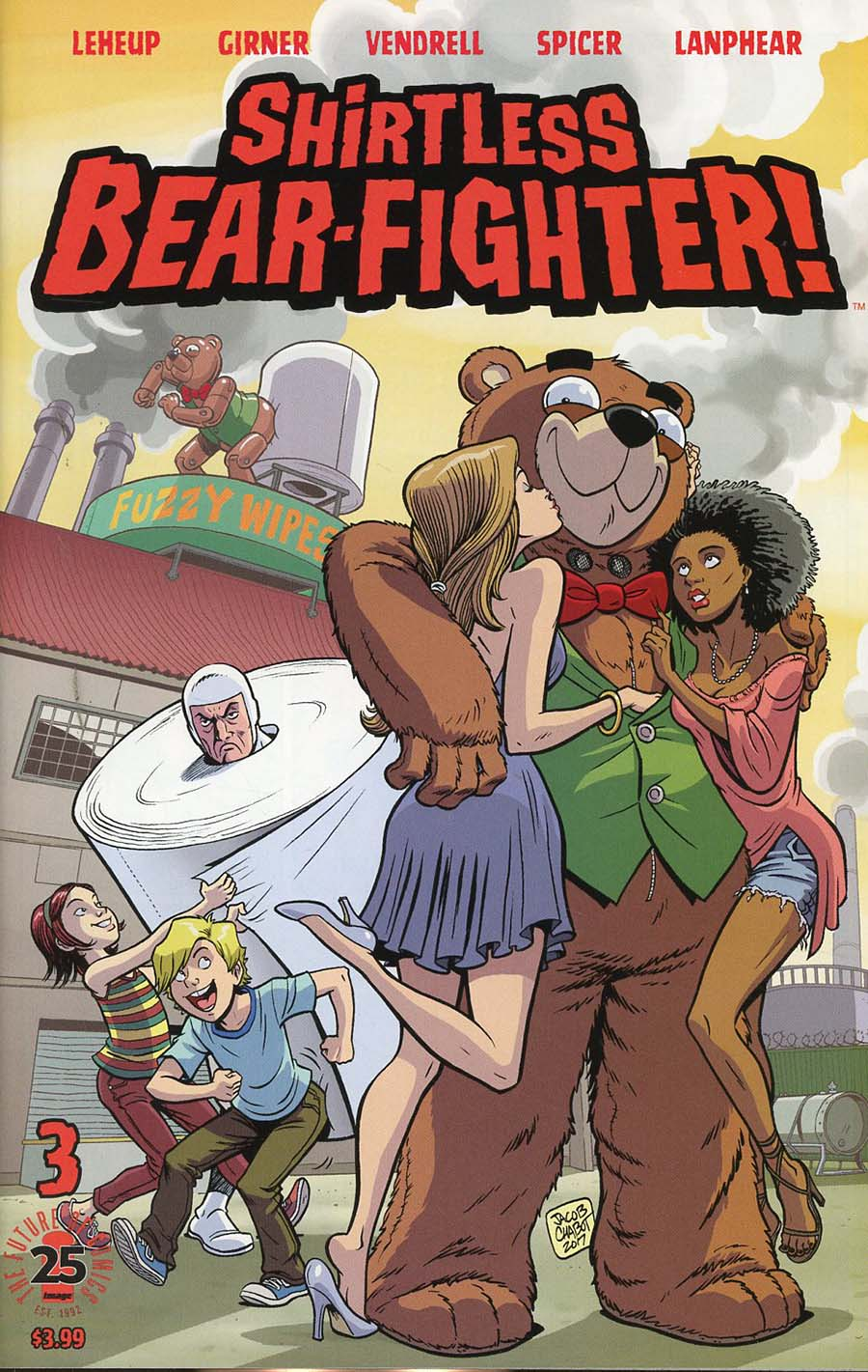 Shirtless Bear-Fighter #3 Cover C Variant Jacob Chabot Cover