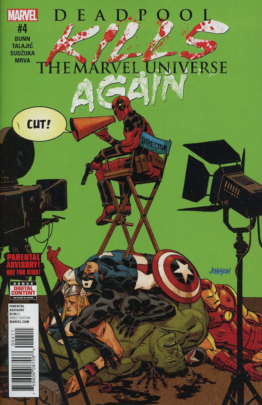 Deadpool Kills The Marvel Universe Again #4 Cover A Regular Dave Johnson Cover
