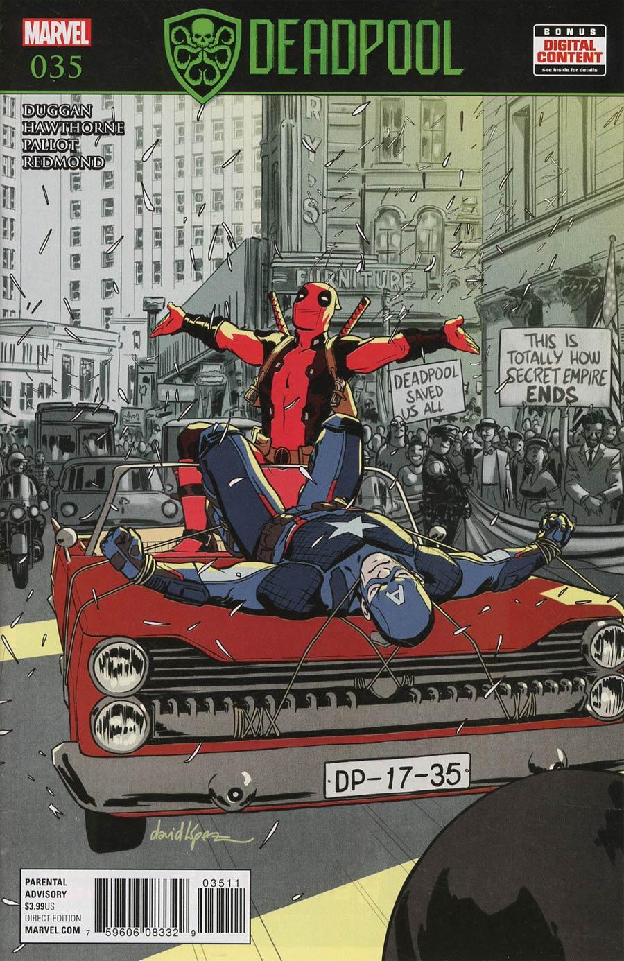 Deadpool Vol 5 #35 Cover A Regular David Lopez Cover (Secret Empire Tie-In)