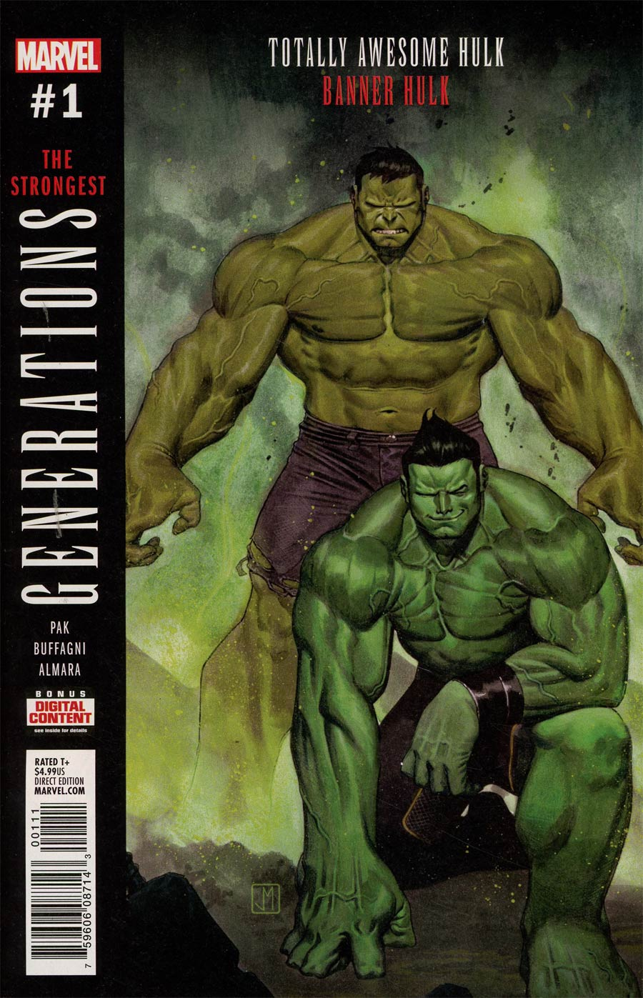 Generations Banner Hulk & Totally Awesome Hulk #1 Cover A 1st Ptg Regular Jorge Molina Cover