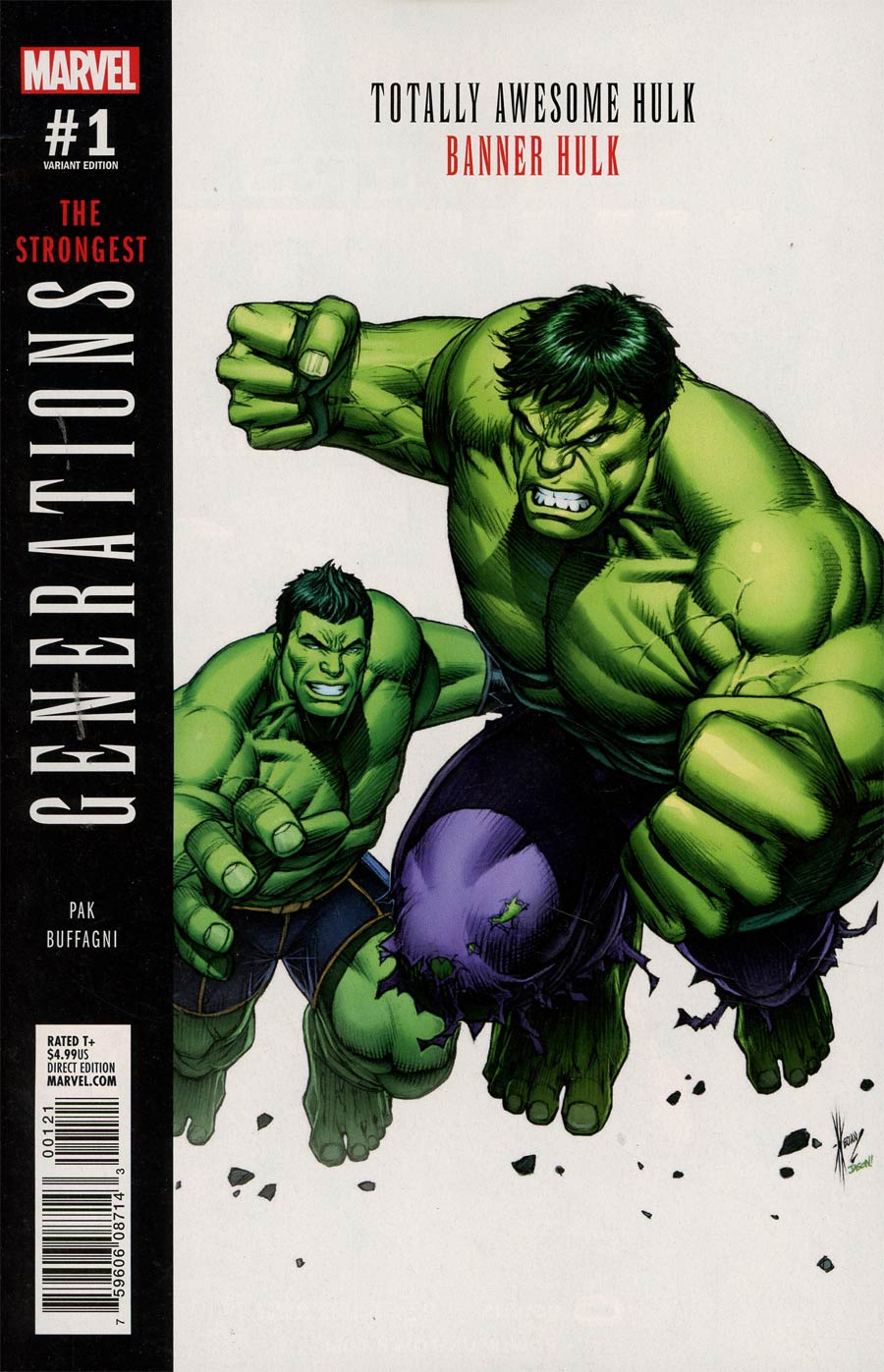 Generations Banner Hulk & Totally Awesome Hulk #1 Cover B Variant Dale Keown Cover