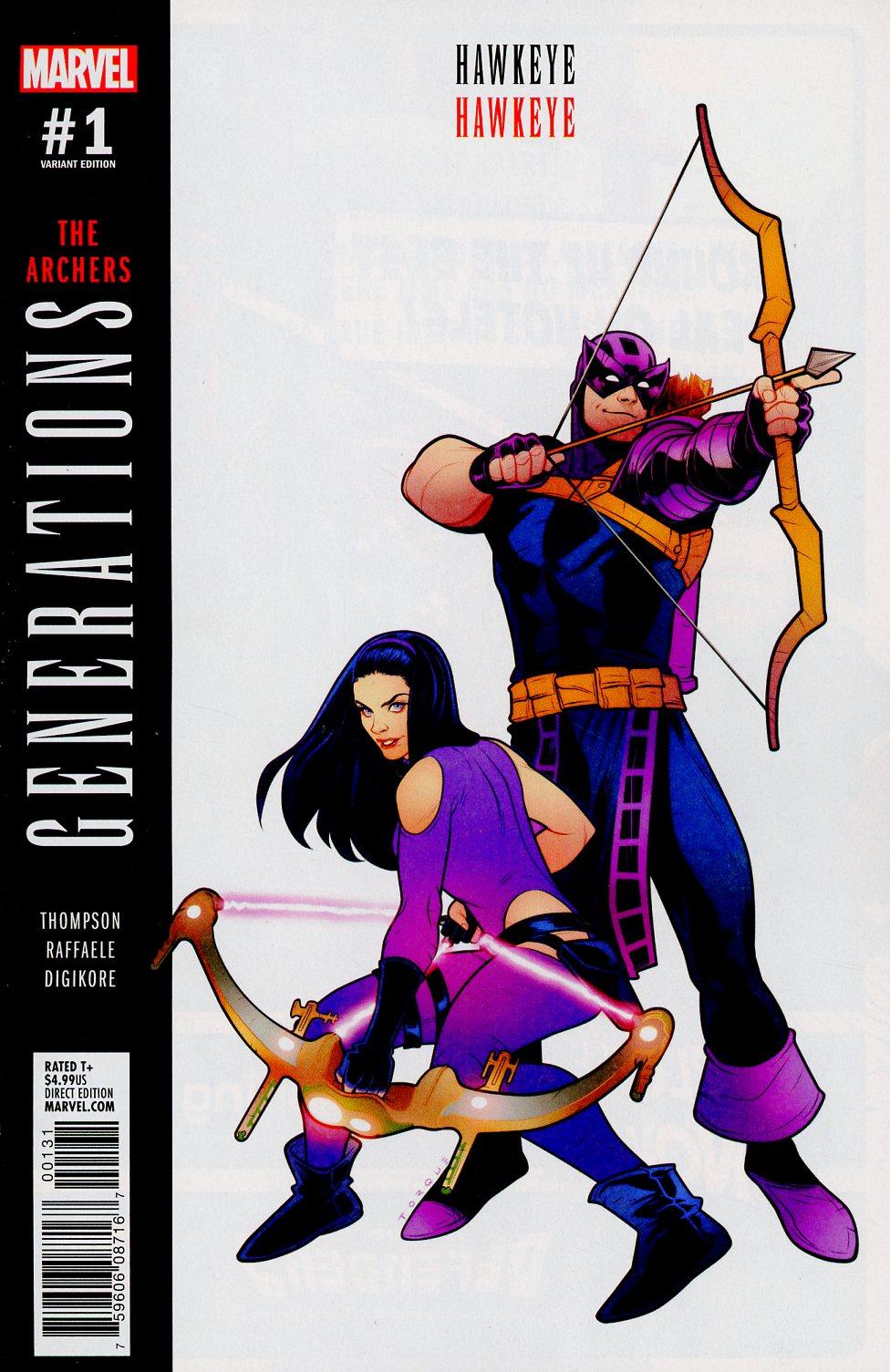Generations Hawkeye & Hawkeye #1 Cover B Variant Elizabeth Torque Cover