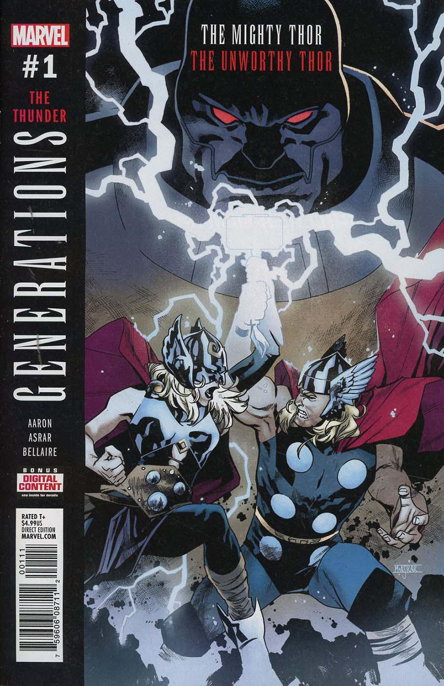 Generations Unworthy Thor & Mighty Thor #1 Cover A 1st Ptg Regular Mahmud Asrar Cover