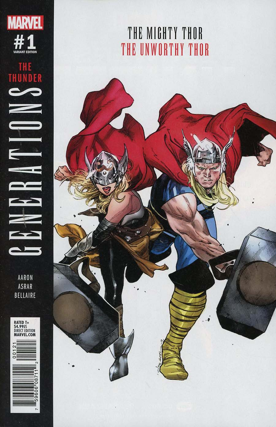 Generations Unworthy Thor & Mighty Thor #1 Cover B Variant Olivier Coipel Cover