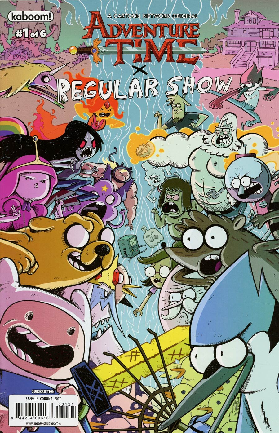 Adventure Time Regular Show #1 Cover C Variant Jorge Corona Subscription Cover