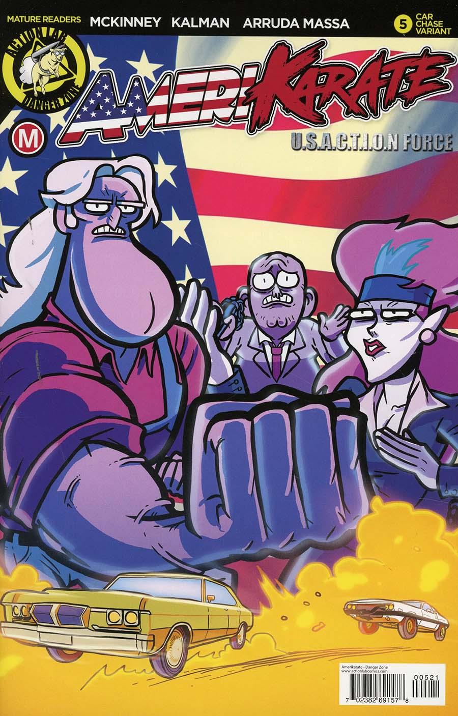 Amerikarate #5 Cover B Variant Daniel Arruda Massa Movie Cover