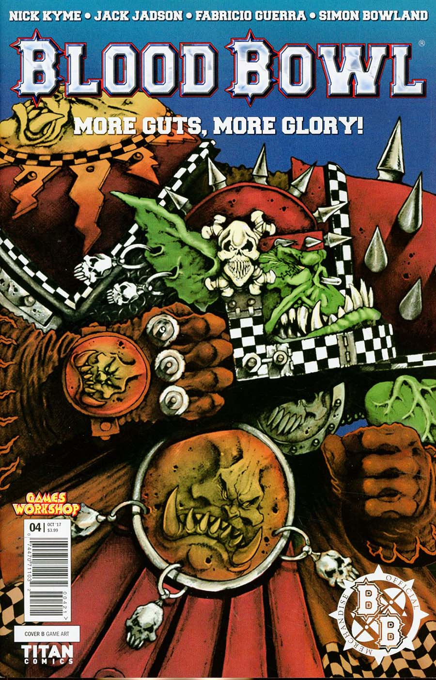 Blood Bowl More Guts More Glory #4 Cover B Variant Classic Game Art Cover