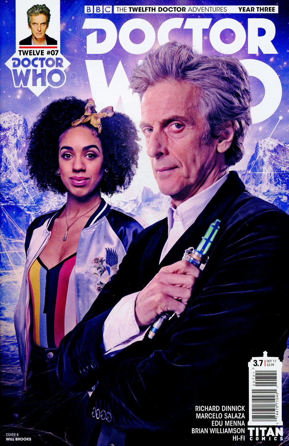 Doctor Who 12th Doctor Year Three #7 Cover B Variant Will Brooks Cover