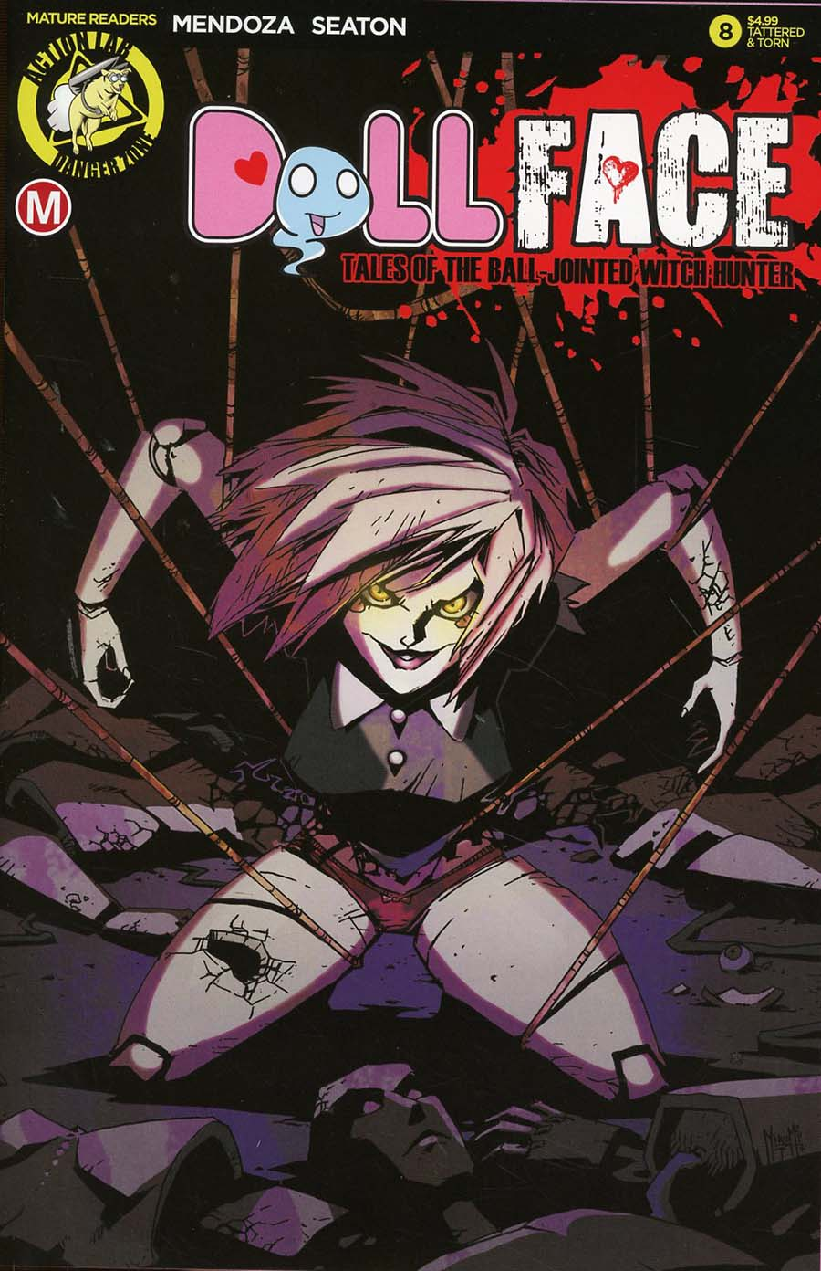 Dollface #8 Cover D Variant Marco Maccagni Pin-Up Tattered & Torn Cover