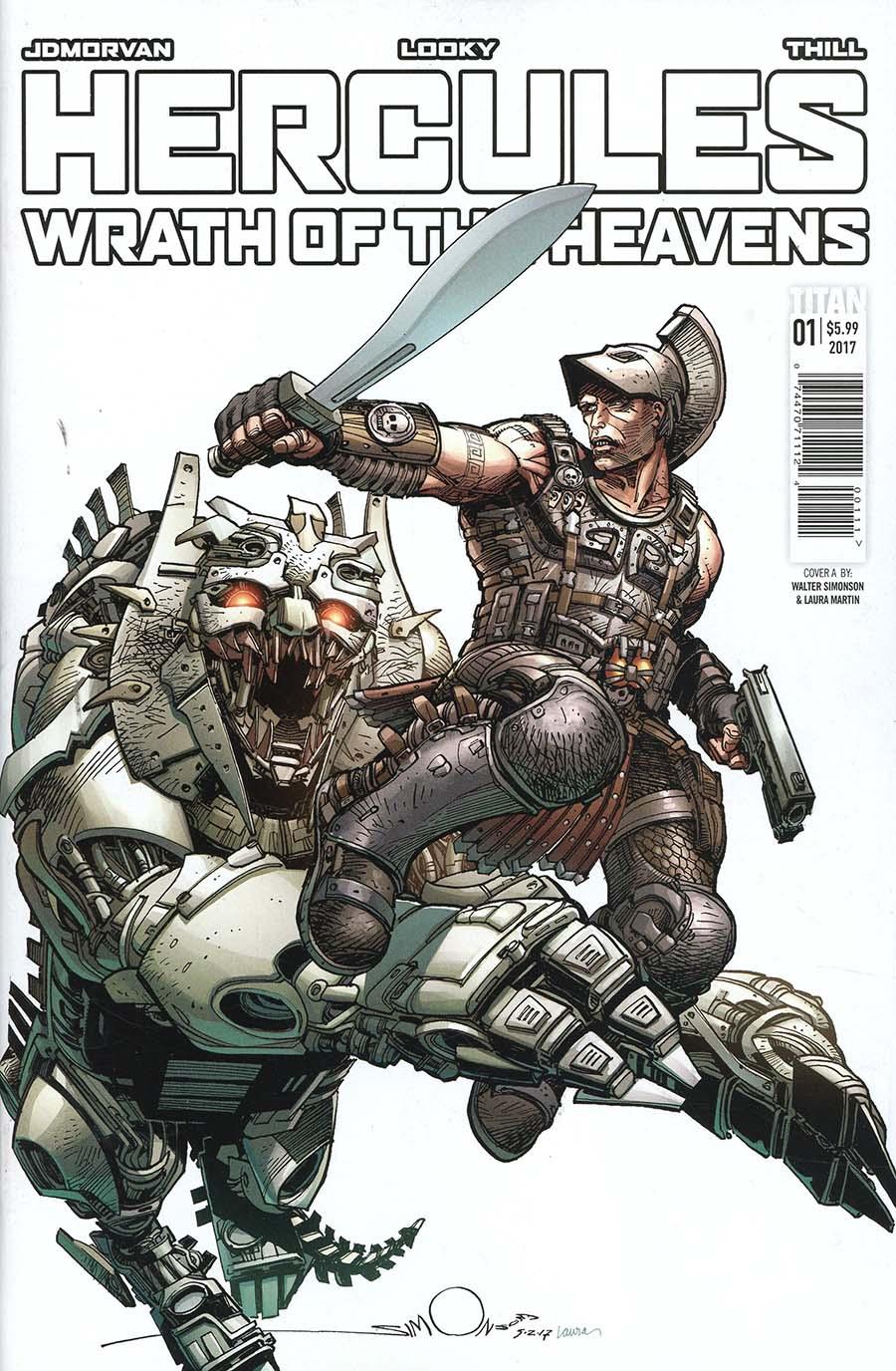 Hercules Wrath Of The Heavens #1 Cover A Regular Walter Simonson Cover
