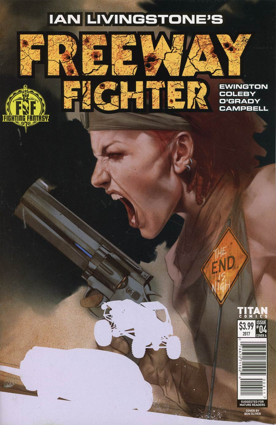 Ian Livingstones Freeway Fighter #4 Cover A Regular Ben Oliver Cover