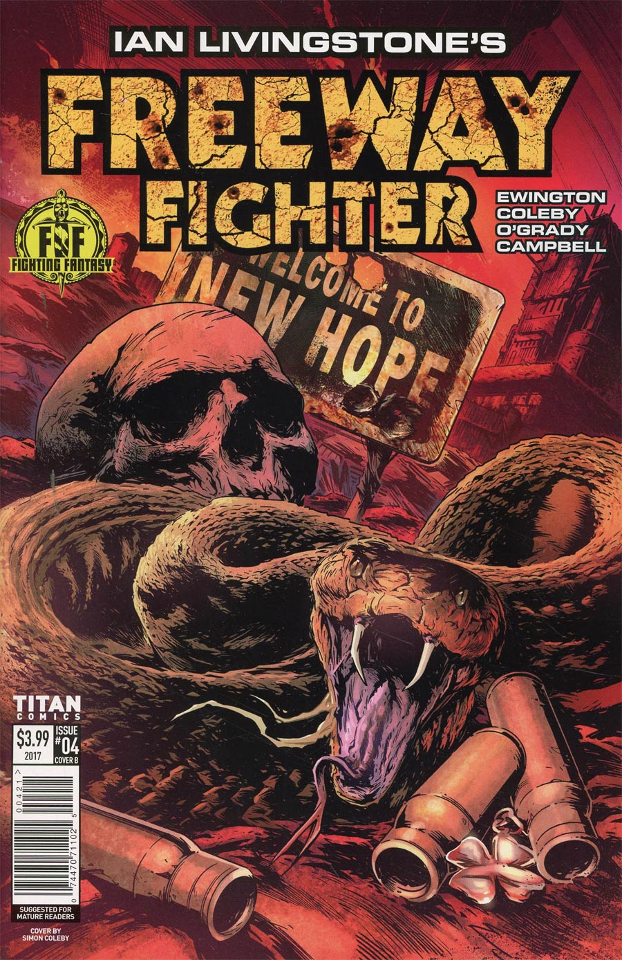 Ian Livingstones Freeway Fighter #4 Cover B Variant Simon Coleby Cover