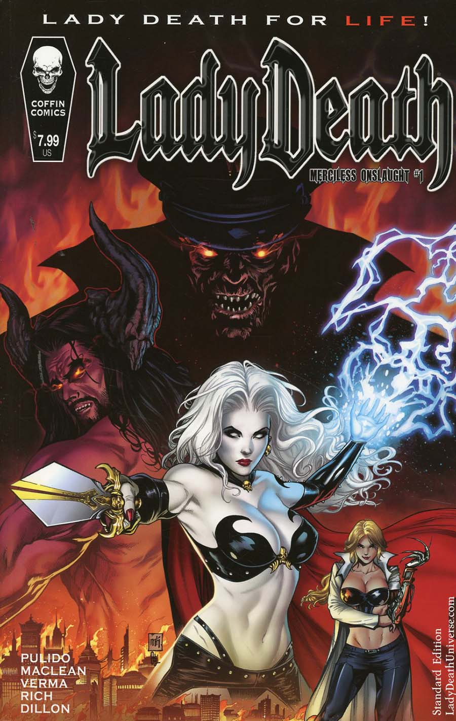 Lady Death Merciless Onslaught #1 Cover A Regular Mike Krome Cover