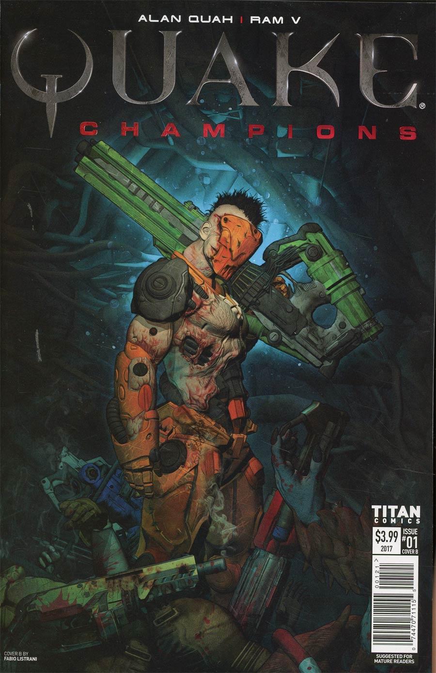 Quake Champions #1 Cover B Variant Fabio Listrani Cover