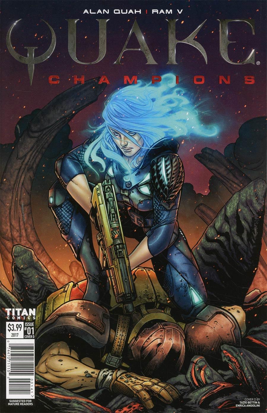 Quake Champions #1 Cover D Variant Tazio Bettin & Enrica Angiolini Cover