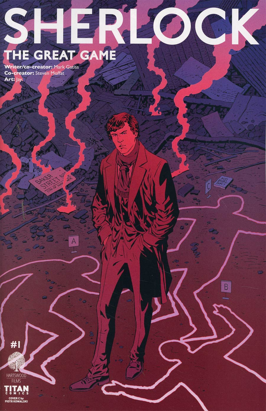 Sherlock The Great Game #1 Cover C Variant Piotr Kowalski Cover