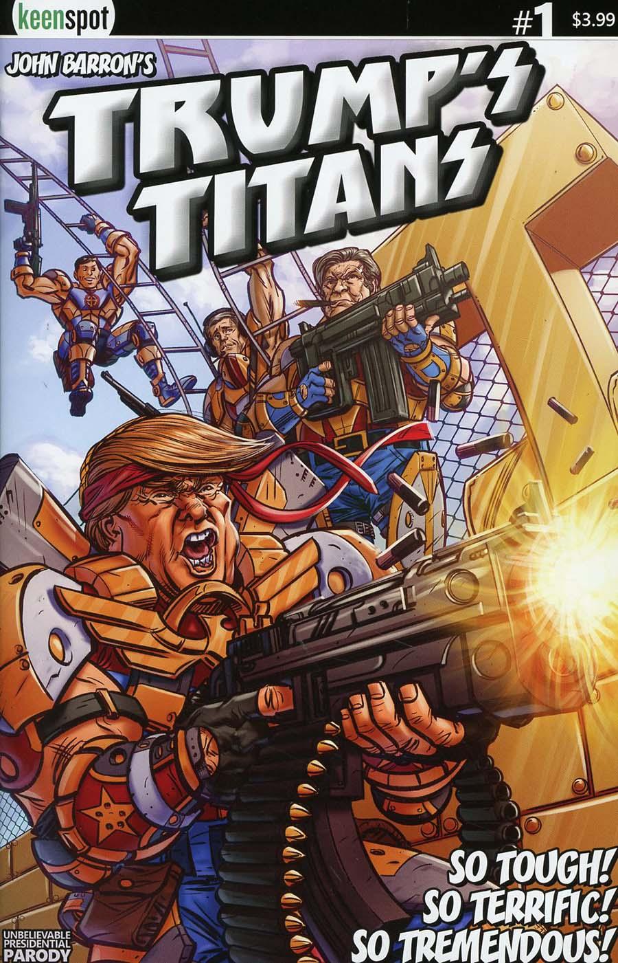 Trumps Titans #1 Cover A Regular Bill Blankenship Terrific Tremendous Cover