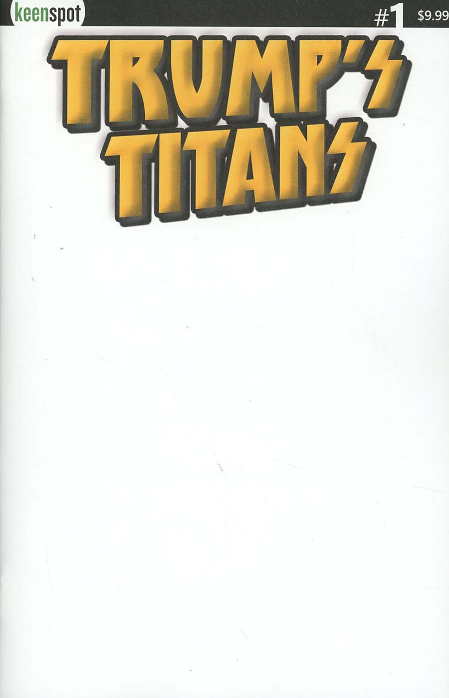 Trumps Titans #1 Cover B Variant Luxurious Gold Blank Cover
