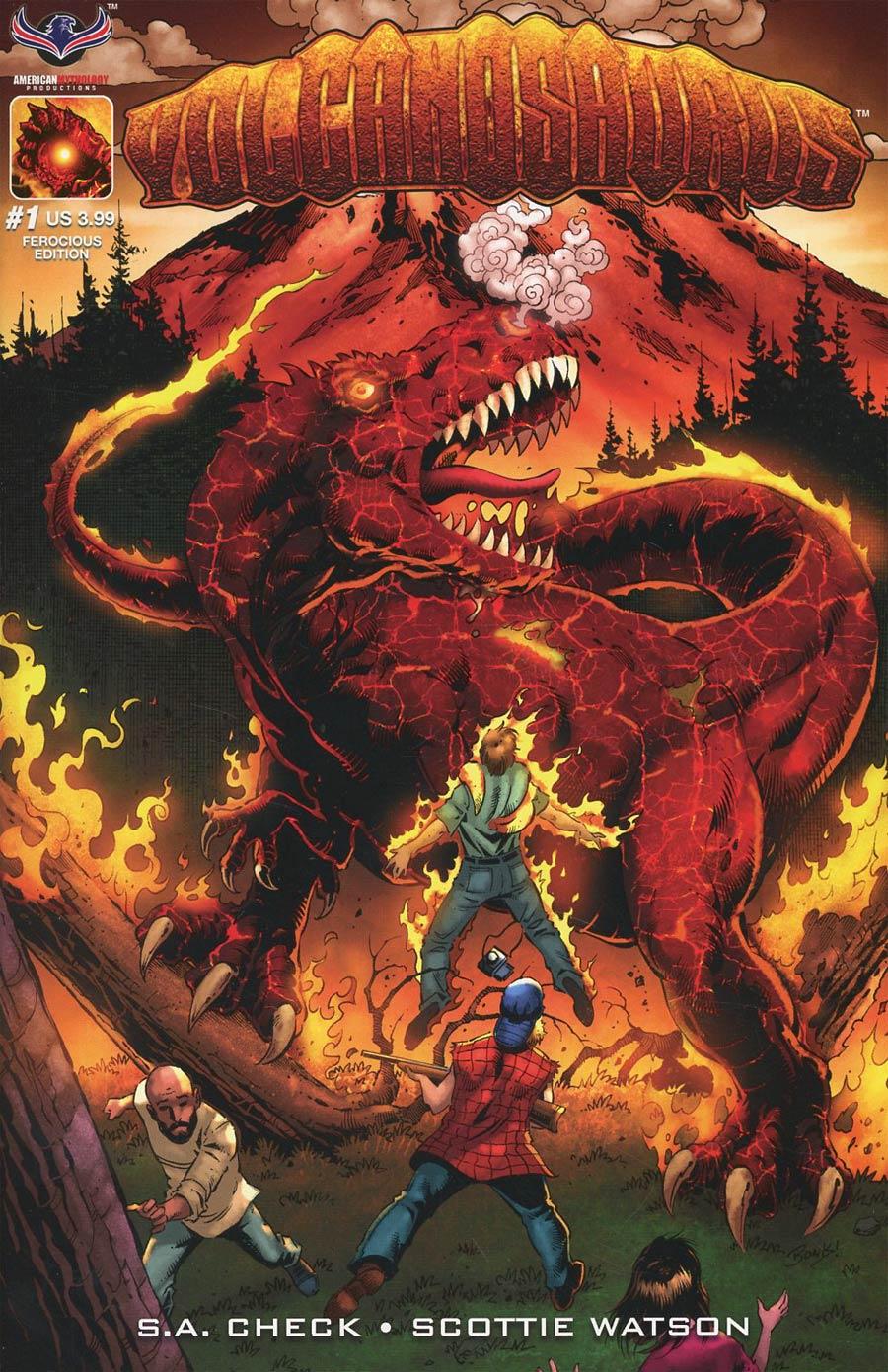 Volcanosaurus #1 Cover B Variant Richard Bonk Ferocious Cover