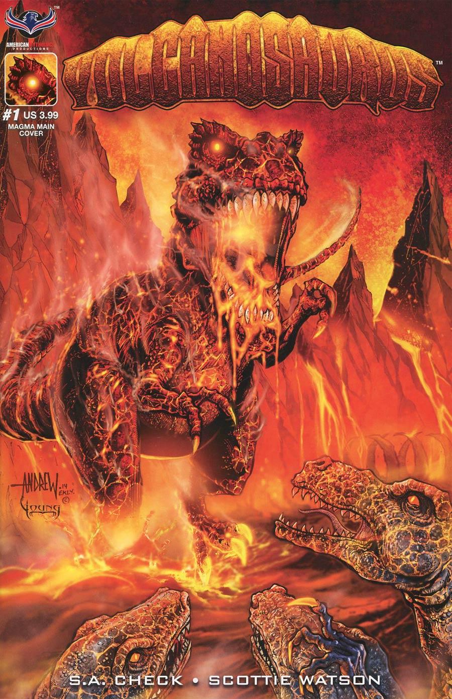 Volcanosaurus #1 Cover A Regular Andrew Mangum Cover