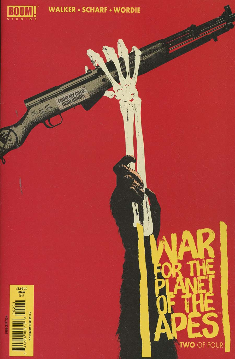 War For The Planet Of The Apes #2 Cover B Variant Jay Shaw Subscription Cover