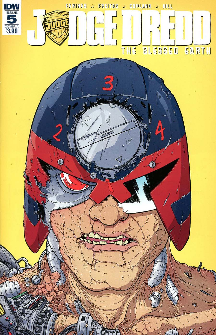 Judge Dredd Blessed Earth #5 Cover A Regular Ulises Farinas Cover