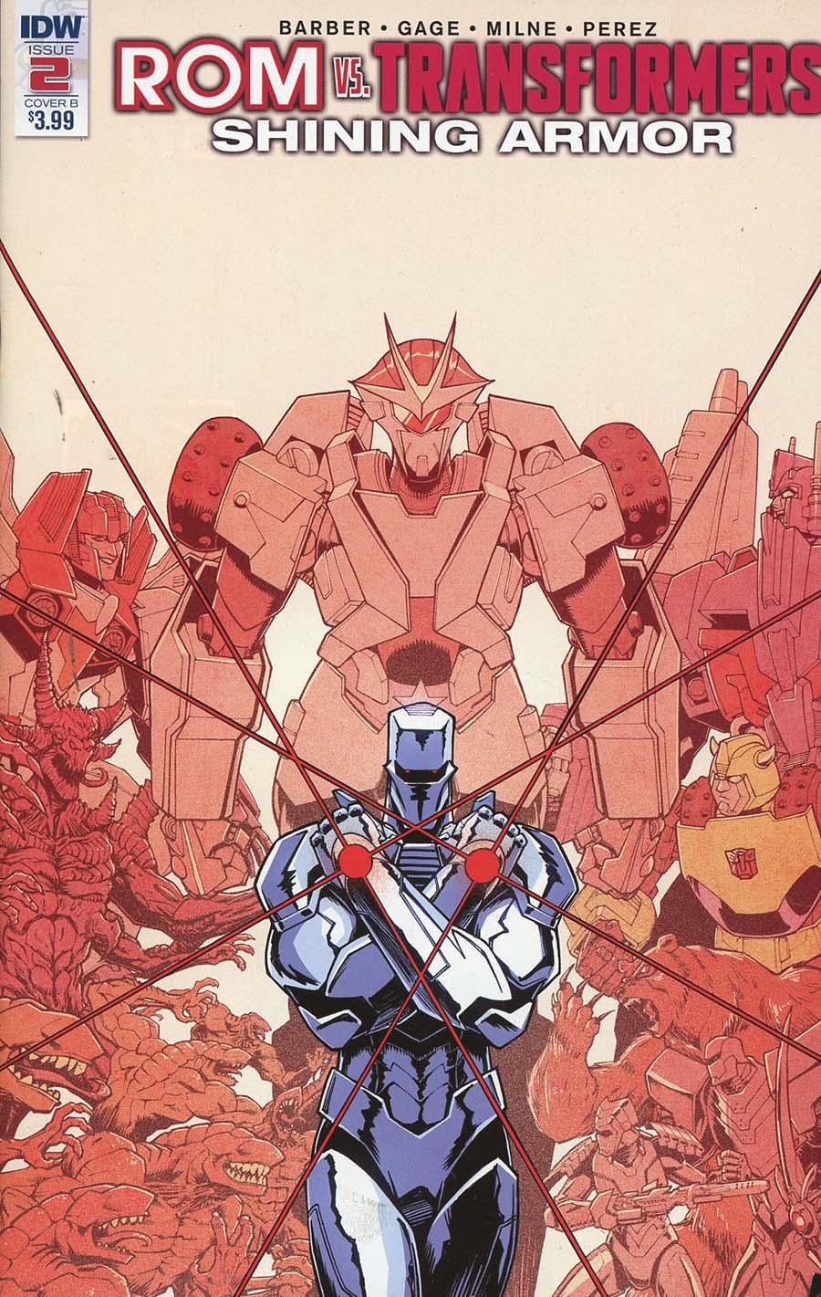 ROM vs Transformers Shining Armor #2 Cover B Variant Nick Roche Cover