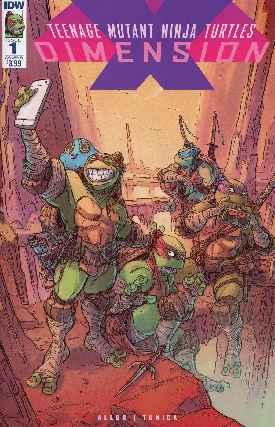 Teenage Mutant Ninja Turtles Dimension X #1 Cover B Variant Pablo Tunica Cover