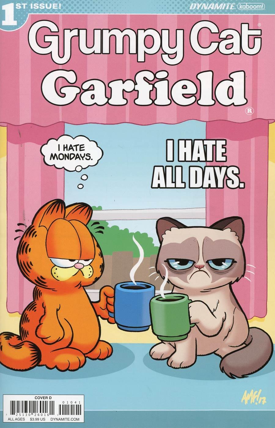 Grumpy Cat Garfield #1 Cover D Variant Tony Fleecs Cover