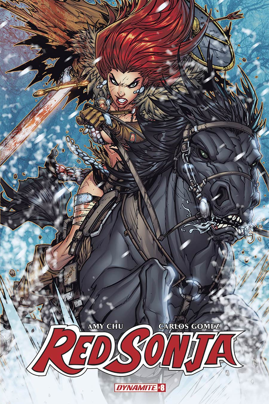 Red Sonja Vol 7 #8 Cover C Variant Jonboy Meyers Cover