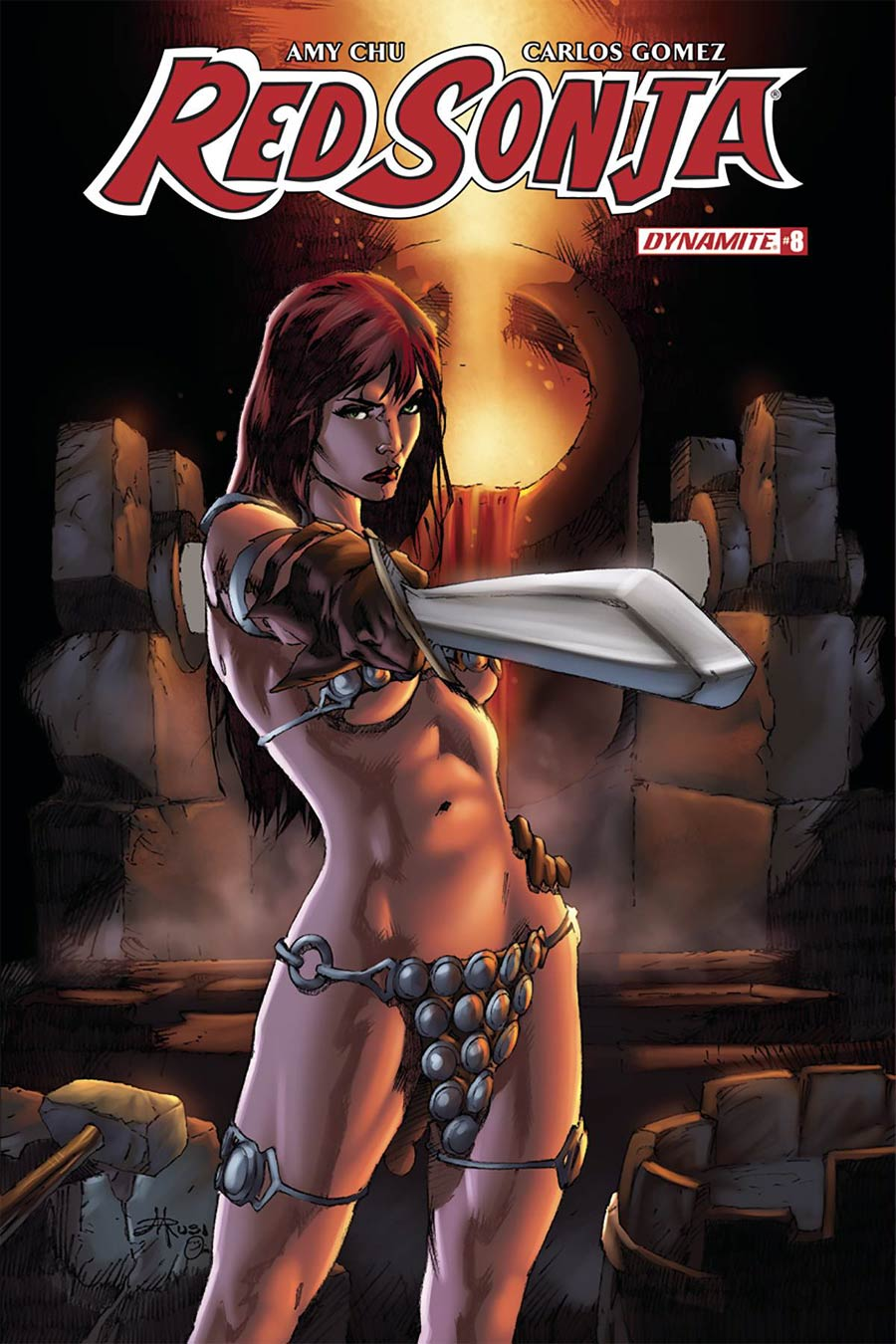 Red Sonja Vol 7 #8 Cover E Variant Mel Rubi Subscription Cover
