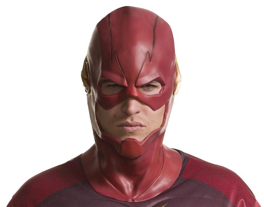 DCTV The Flash Full Overhead Adult Deluxe Latex Mask