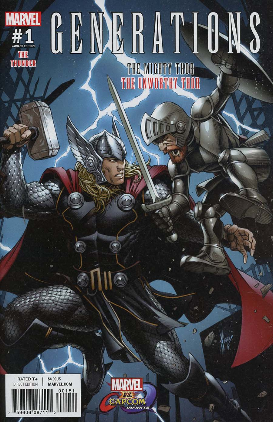 Generations Unworthy Thor & Mighty Thor #1 Cover C Variant Dale Keown Marvel vs Capcom Cover