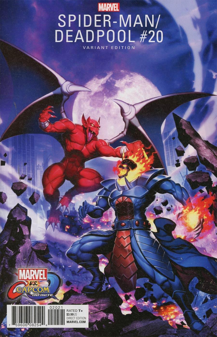 Spider-Man Deadpool #20 Cover B Variant Genzoman Marvel vs Capcom Cover