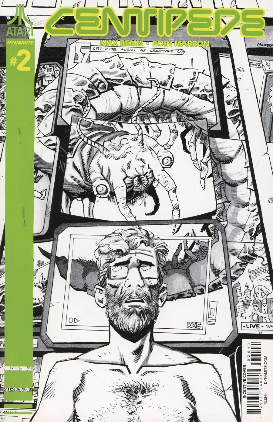 Centipede #2 Cover D Incentive Eoin Marron Black & White Cover