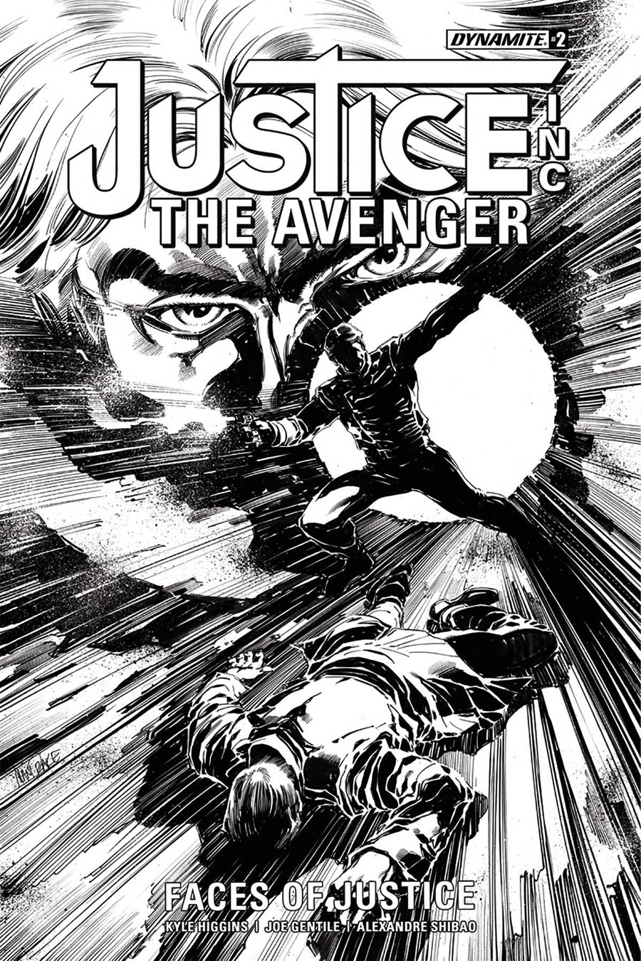 Justice Inc The Avenger Faces Of Justice #2 Cover B Incentive Tom Mandrake Black & White Cover