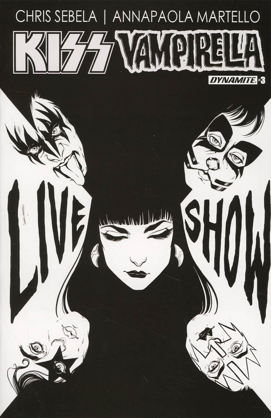 KISS Vampirella #3 Cover E Incentive Carli Ihde Black & White Cover