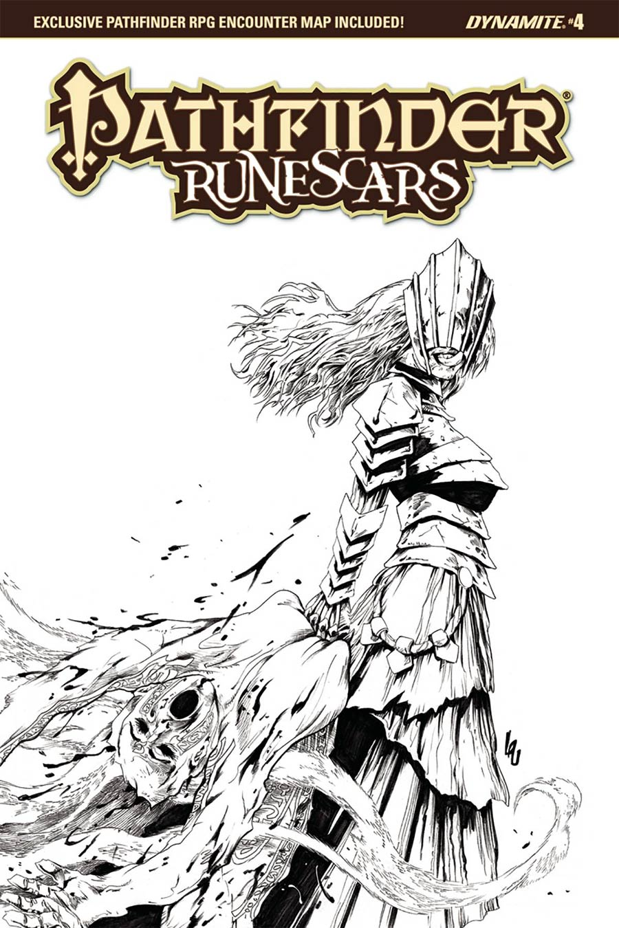 Pathfinder Runescars #4 Cover D Incentive Jonathan Lau Black & White Cover