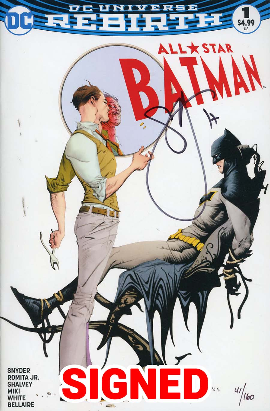 All-Star Batman #1 Cover P DF Exclusive Variant Cover Signed By Scott Snyder