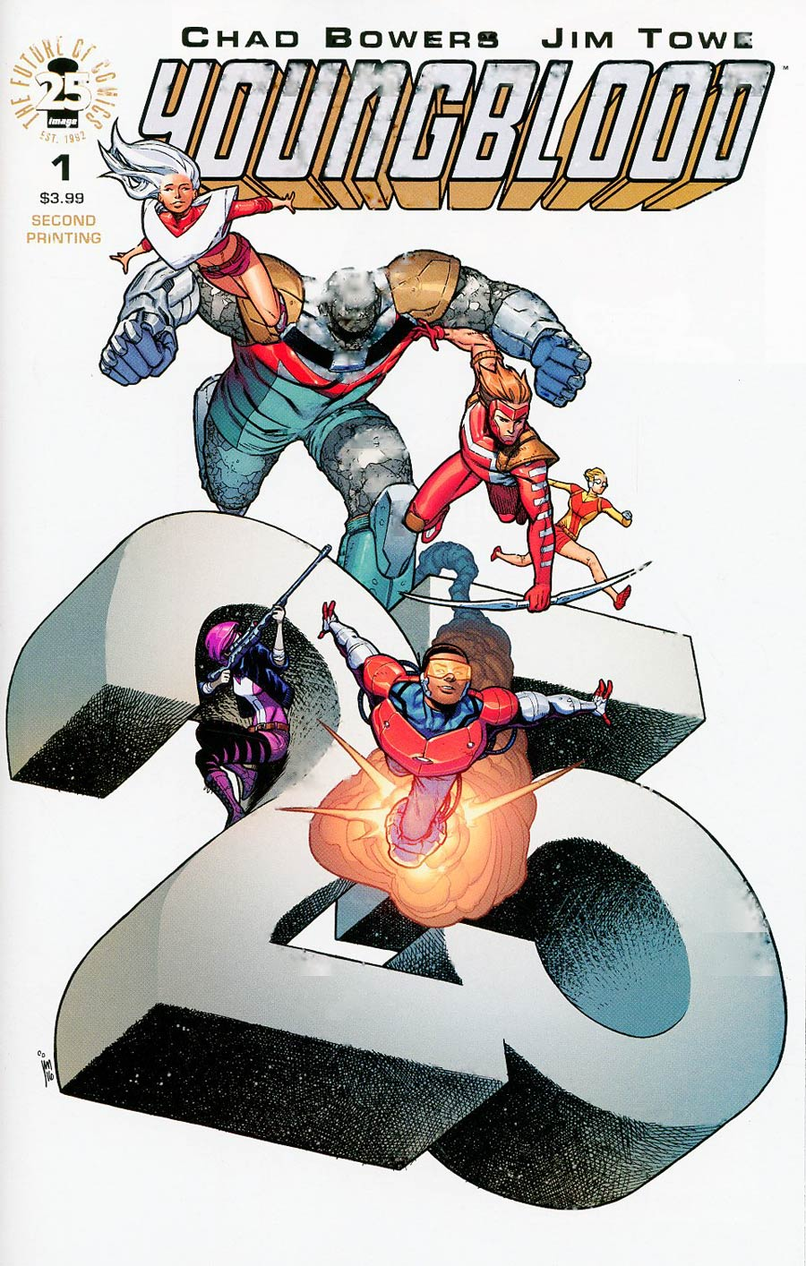 Youngblood Vol 5 #1 Cover G 2nd Ptg Jim Towe Variant Cover