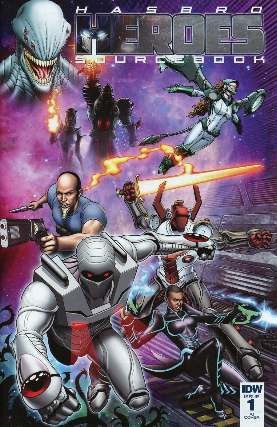 Hasbro Heroes Sourcebook #1 Cover C Incentive Marcelo Borstelmann Variant Cover