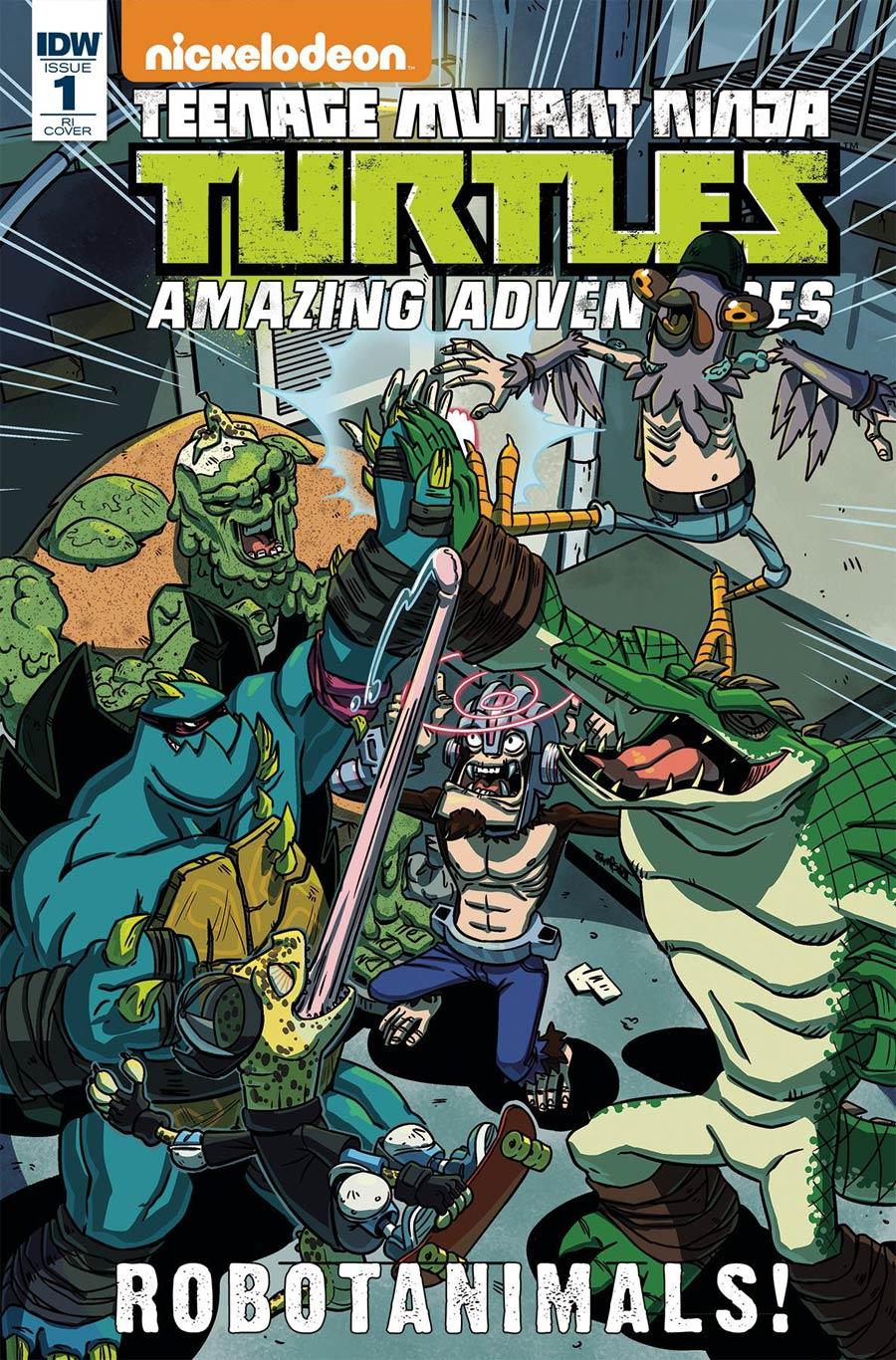Teenage Mutant Ninja Turtles Amazing Adventures Robotanimals #1 Cover C Incentive Ryan Jampole Variant Cover