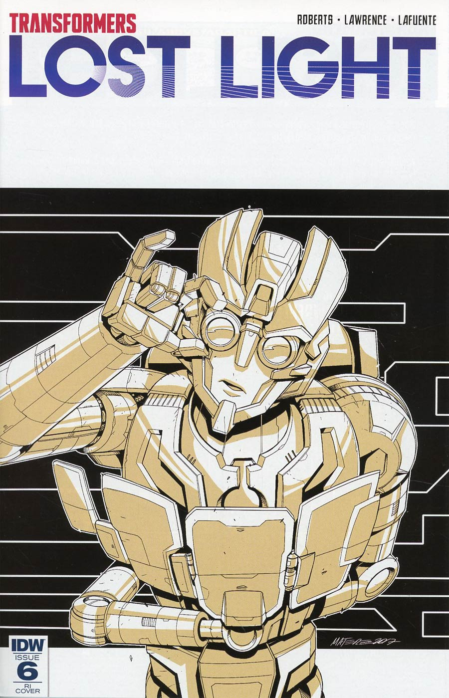 Transformers Lost Light #6 Cover D Incentive Marcelo Matere Variant Cover