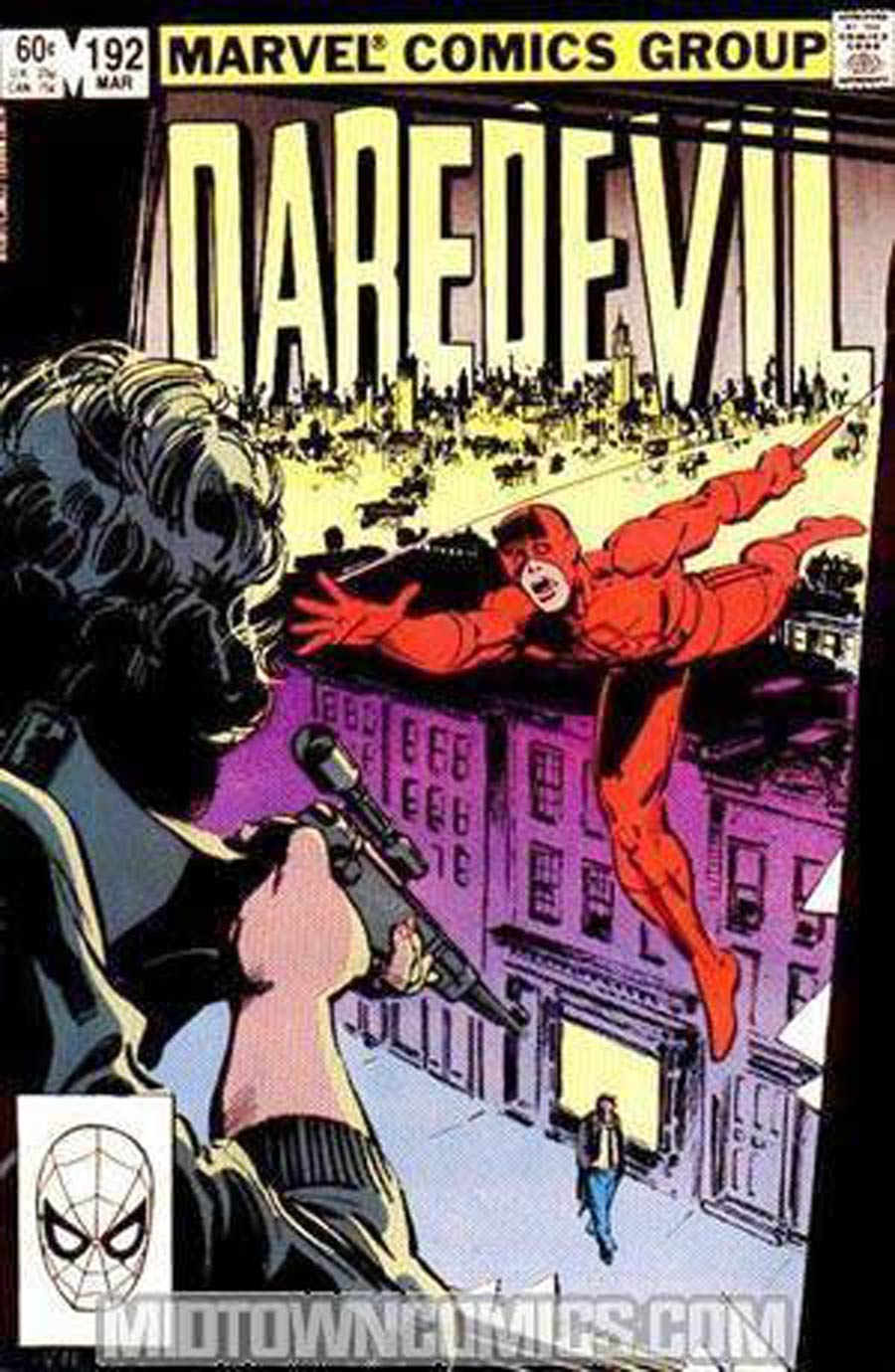 Daredevil #192 Cover B Without Tattooz