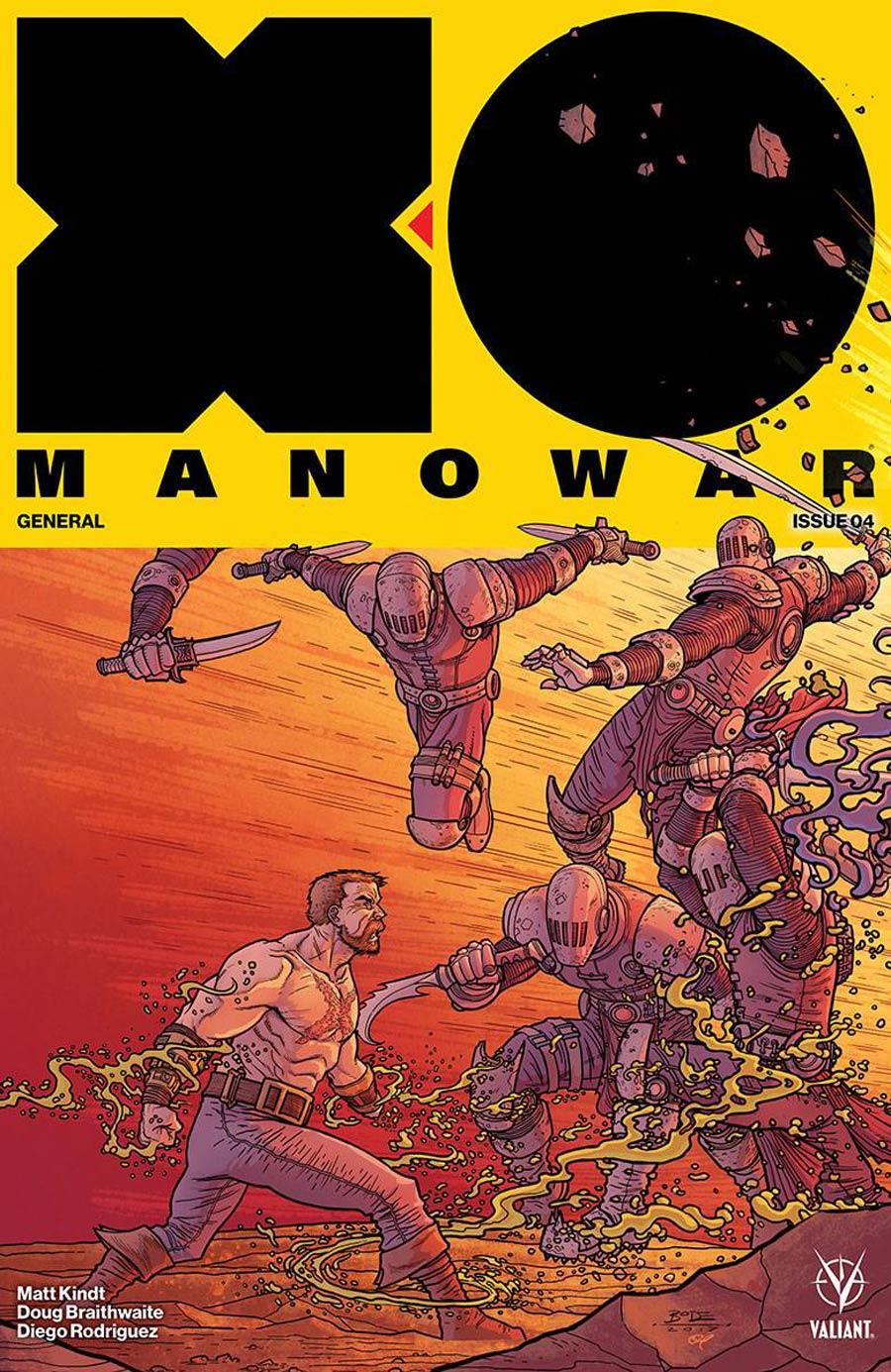 X-O Manowar Vol 4 #4 Cover D Incentive Ryan Bodenheim Interlocking Variant Cover