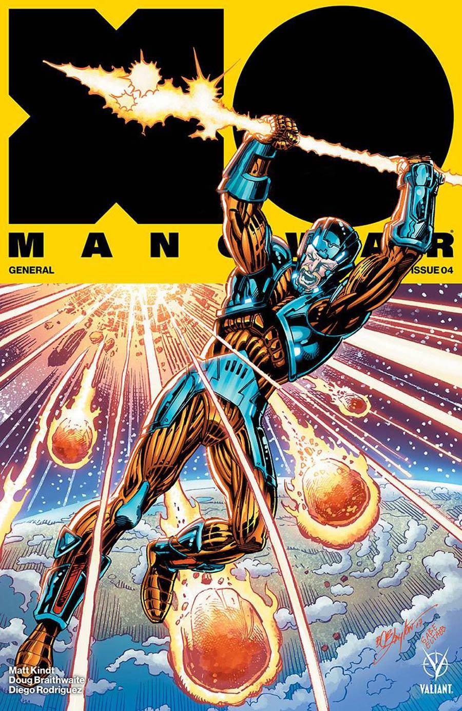 X-O Manowar Vol 4 #4 Cover E Incentive Bob Layton X-O Manowar Icon Variant Cover