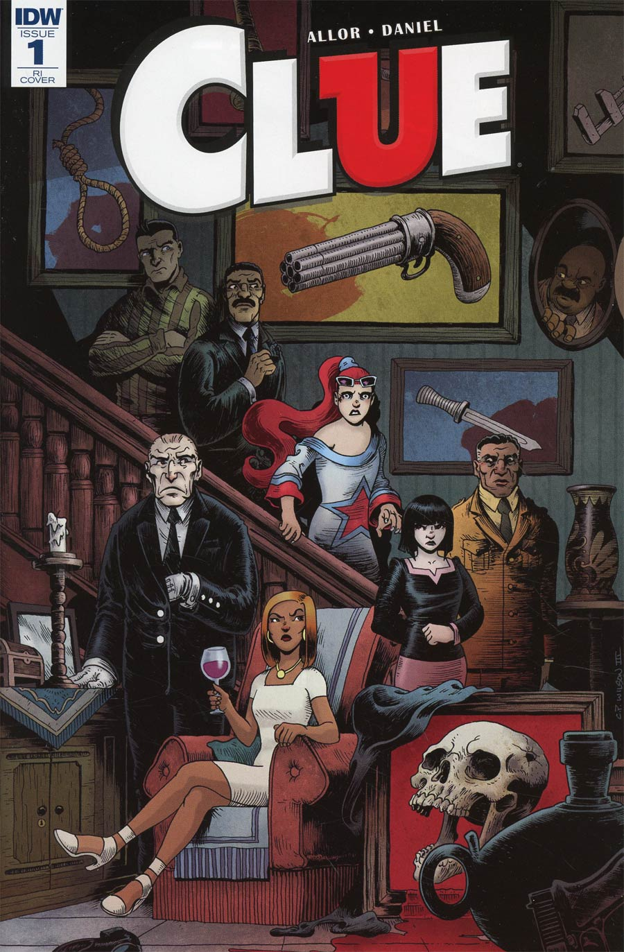 Clue #1 Cover D Incentive Charles Paul Wilson III Variant Cover
