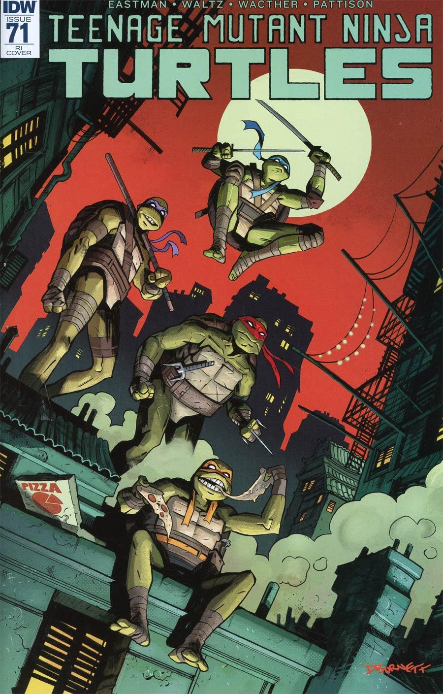 Teenage Mutant Ninja Turtles Vol 5 #71 Cover C Incentive Dylan Burnet Variant Cover