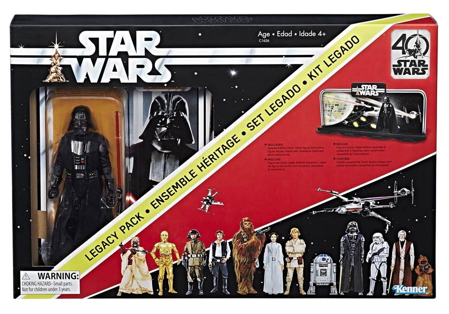 Star Wars Black 40th Anniversary Legacy 6-Inch Action Figure Set